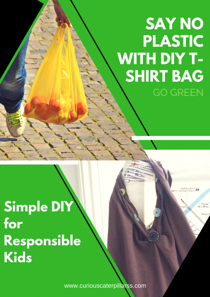 Say NO to Plastic with Easy DIY t-shirt bag