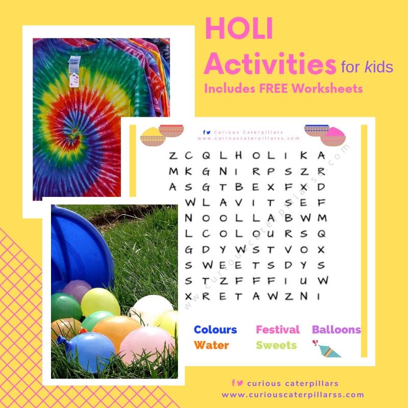 Holi activities for kids