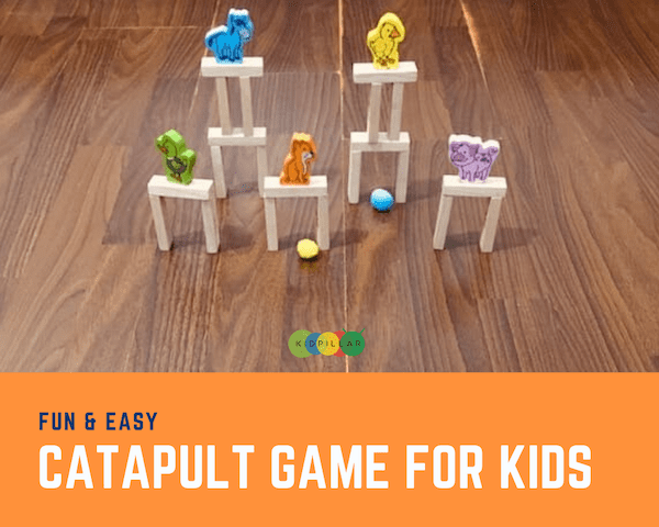 DIY catapult game for kids