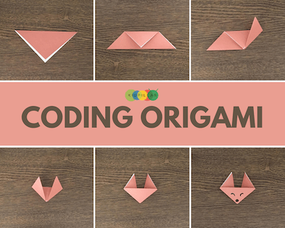 Offline Origami coding activity for kids