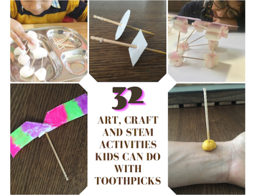32 Art, Craft and STEM Activities Kids Can Do with Toothpicks
